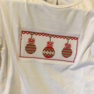 Anavini Shirts & Tops - Long sleeve Christmas Smocked bell sleeve cuff